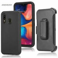 For Samsung Galaxy A50 Armor Case Belt Clip HYBRID Heavy Duty Dual Layer Cover