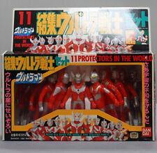 RARE VINTAGE BANDAI POPY ULTRAMAN 11 FIGURES BOX SET SOFUBI BULLMARK JAPAN SOFVI