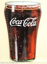 COCA COLA glass cut heavy embossed metal sign soda pop coke 3d style 2180191