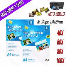 Papel Fotografico A4 Brillante Impresion fotografía Impresora Inyección De Tinta
