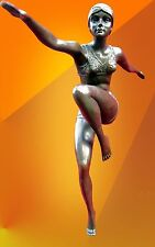 ART DECO BRONZE LARGE SIGNED CON BRIO BRONZE STATUE SCULPTURE DANCER HOT CAST