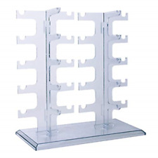 Allpdesky Two Row Sunglasses Rack Glasses Holder Display Stand Transparent