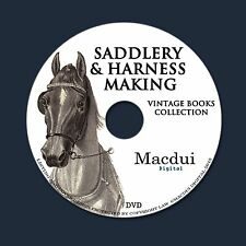 Saddlery & Harness Making 18 ebooks PDF on 1 DVD Carriage,Horse,Sleighs, Repair