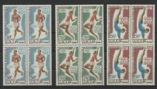 [PG30062] Mauritania 1969 olympics good set blocks of 4 VF MNH airmail stamps