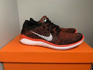 New Men's Nike Free RN Flyknit 2018 Crimson/Black 942838-602 Size 7 RARE 🔥