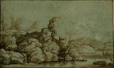 Antique Master Print-LANDSCAPE-PRINTDRAWING-NORWAY-Everdingen-Prestel-1783