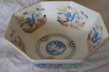 ORIENTAL DECORATED OCTAGONAL BOWL.