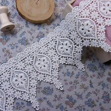 Embroidered Cotton Crochet Lace Trim Vintage Style 10.5cm Wide 1Yd