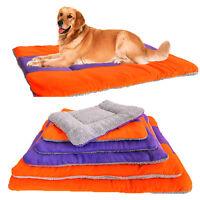 New Large Warm Soft Fleece Puppy Pets Dog Cat Bed Cushion Pillow Mat Cushion
