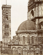 Italie, Firenze, Il Duomo Vintage albumen print  Tirage albuminé  18x24  C