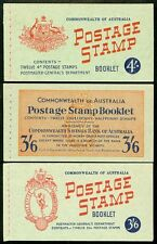 Australia : 1952-57. Stanley Gibbons #Sb30a, 31a, 33a. All Vf, Mint Nh. Cat £165