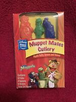 Rare Disney Muppets Plastic Party Picnic Cutlery 24 Pieces Knives Forks Spoons