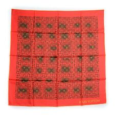 NIB Louis Vuitton Yayoi Kusama silk square scarf Monogram Red or off-white