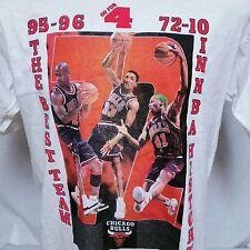 VTG 1996 Chicago Bulls T Shirt Tee Jordan Rodman 90s Finals Champs 50/50 NBA XL