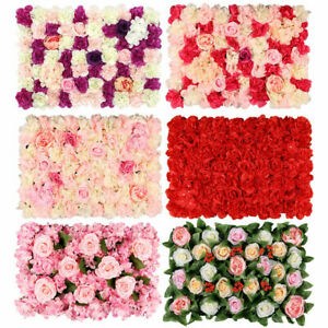 Artificial Rose Flower Wall Panels Backdrop Bouquet Wedding Party Background