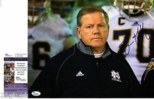 Brian Kelly Signed 11x14 Photo w/ JSA COA #L51483 Notre Dame