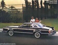 1977 Ford LTD II Dealer Sales Brochure Book