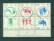 Briefmarken-Abarten & -Plattenfehler aus der DDR für Olympische Spiele