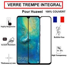 Vitre verre trempé Huawei P20 P20 Lite Mate 20 P30 Lite intégrale 100% couvert