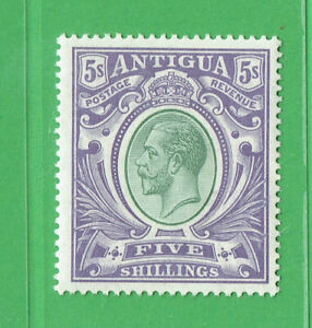 (T210) Antigua1913 GeorgeV 5/- Grey Green & Violet SG51 L/M/M Cat £95.00
