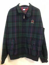 Tommy Jeans Hilfiger Crest Harrington Jacket Large NWT Plaid Zipper