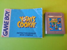 Yoshi's Cookie + Instructions - Nintendo Game Boy / GBC / GBA