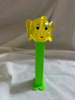 PEZ Safari Animals ~ Elephant ~ Yellow Crystal Head ~ 4.9 No Country