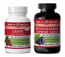 Immune system boost vitamins - GRAPE SEED EXTRACT – RESVERATROL 1200 COMBO 2B