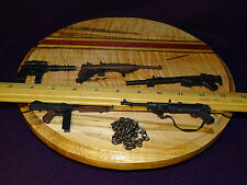 Lot of 5 GI Joe guns, machine guns, rifles and one chain, accessories, weapon
