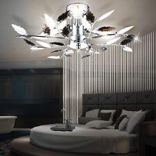 Deckenleuchte Wohnzimmer Chrom Beleuchtung Flur Deckenlampe Blätter 40 cm Licht