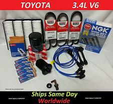 *** NGK Wire -Spark Plugs-Belts-Air-Fuel-Oil-Kit 00-04 Toyota Tundra V6 3.4L #02