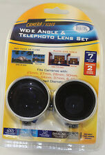 Tele & Wide angle Camcorder Lens Kit For camcorder with 37mm 27mm 34mm 30mm Rng