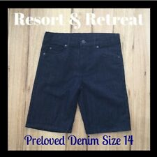 Denim Festival Summer Shorts, Size 14, Preloved, Black, Great Cond.