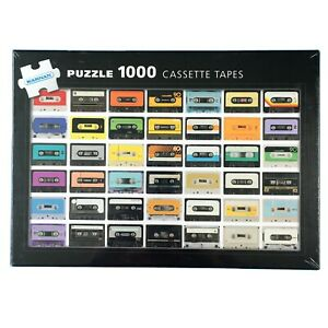 Cassette Tapes JIgsaw Puzzle 1000 Retro Vintage Audio Music Record 1970s 80s Fun