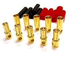 20 Paar 5,5mm 5.5mm Stecker Goldstecker Buchse Schrumpfschlauch 120A Lipo Akku