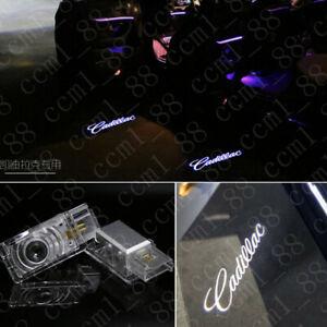 Cadillac 2X LED PROJECTOR LIGHT LOGO EMBLEM ACCESSORY CAR DOOR BRIGHT LIGHTS HD