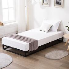 Twin Size Metal Platform Bed Frame With Wood Slats Bedroom Mattress Foundation