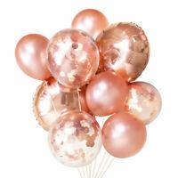 Birthday Heart Set Confetti Rose Kid Star Bunch Balloon Wedding Decor Gold Party