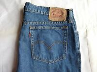MENS PRE OWNED LEVI JEANS 565 BLUE  SIZE W32 L32 ZIP FLY EXCELLENT CONDITION