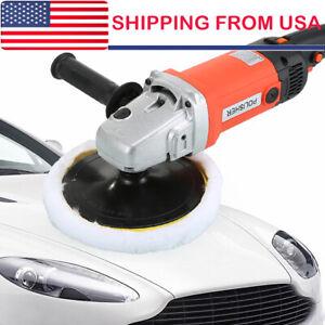 "7"" 1400W Car Polisher Buffer Polishing Machine Kit Waxing Tool Buffing Pad Set"