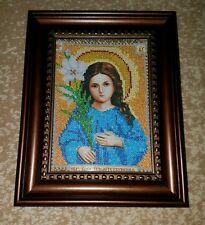 Triletstvuyuschaya Ikona Beads Embroidered Трилетствующая икона бисером 24×19cm
