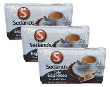 3x Cafe Sedano's Espresso Ground Coffee 10 oz 284 g
