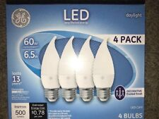 GE Led 500 lumens Daylight Medium Base White Decorative Frosted 4pk