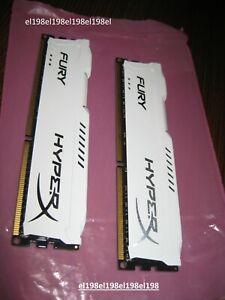 Kingston 16GB(2x8GB) HX316C10FWK2/16 HyperX Fury White DDR3-1600 **tested***