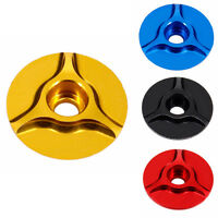 "Hot Sale CNC Threadless 1-1/8"" Road MTB Bike Stem Bicycle Headset Top Cap Cover"