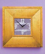 "20"" Canvas Wall Clocks Natural Wooden Clocks Rustic Wall Decor"