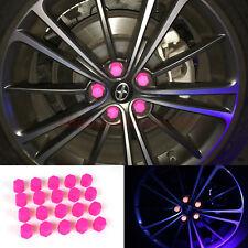 21mm Car Accessories Exterior Wheel Rim Lug Nut Covers Glow in the Dark PINK