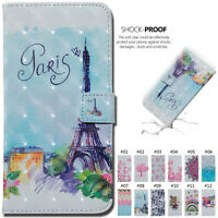 For Samsung Luxury Wallet Case Cover PU Leather Stand Card Slot 3D Strap Skin