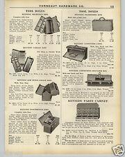 1926 PAPER AD Kennedy Mechanics' Tool Box Auto Garage Carpenter Cases Kit