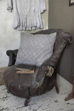 Kissenbezug Kissen Häkelspitze lavendel 50x50 Vintage Shabby Jeanne d'Arc Living